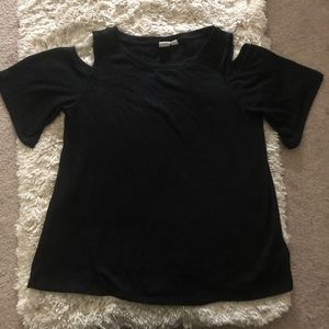 Black Gap cold shoulder top with loose sleeves XS